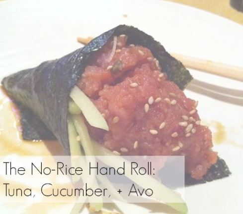 no rice handroll